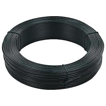 vidaXL Fence Binding Wire 250 m 1.6/2.5 mm Steel Black Green