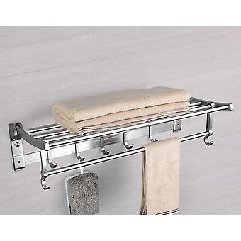 Frap Modern Style Wall Mounted Space Aluminum Silver Surface Towel Bars Towel