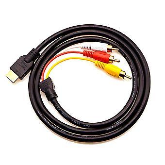 Chenduomi hdmi do av konvertora 1080p hdmi na 3rca /av/cvbs kompozitný video audio adaptér (čierny) (hd