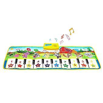 Sanlinkee piano mat for kids, music mats touch play musical carpet piano floor mat for children