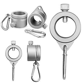 Aluminum Alloy 360 Degree Rotating Flagpole Mounting Rings With Carabiner