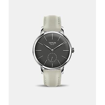 VOTUM - Reloj de señoras - VINTAGE SMALL - VINTAGE - V11.10.42.05 - correa de cuero - blanco-écru