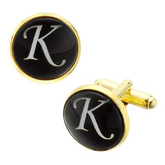 Qualità Gemme Craft Cufflinks Button, Motivo Tessuto Ovale Camicia Cuff Links