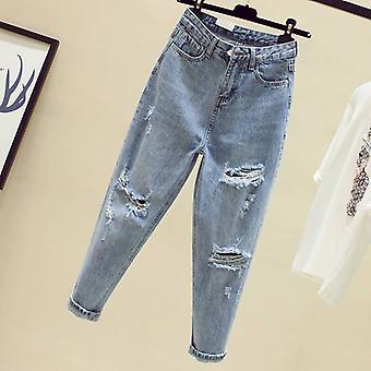 New Autumn Winter Fashion Casual Denim Pantsfriend Hole Jeans Taille haute