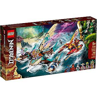 LEGO 71748 Ninjago Katamaran See Schlacht