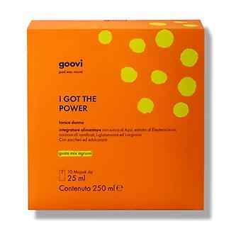 Tonic Woman - I Got the Power 10 packets of 25ml (Orange - Lemon - Tangerine)