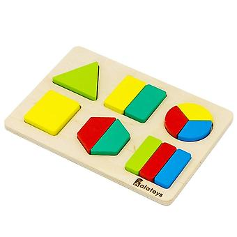 "Alatoys Wooden  Puzzles ""Fractions-figures"""