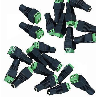 Elektroniikka urospuolinen naisten tasavirta 12v 24v jack adapteri liitin pistoke Cctv