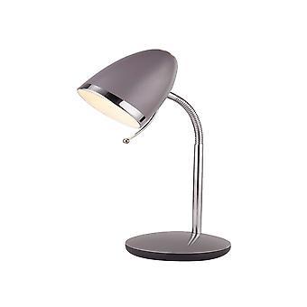 Söklampa Boston Grey & Chrome Task Lamp