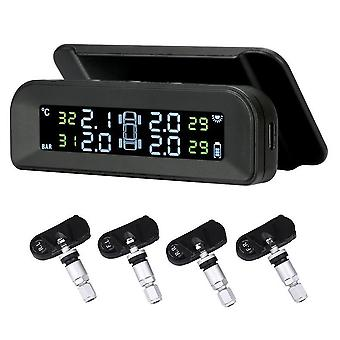 Car Tire Pressure Alarm Monitor System Real-time Display Attached To Glass