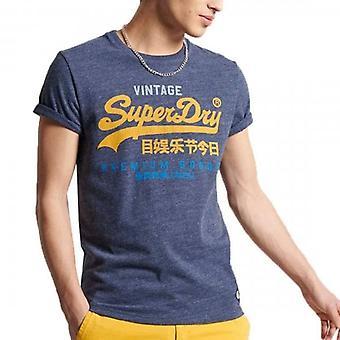 Superdry VL Tri 220 Logo T-Shirt Navy Marl 97T