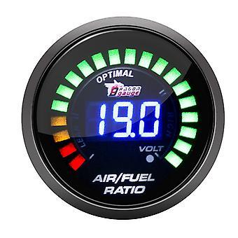 2 inch 52mm 20 lichten digitale auto auto lucht / brandstof verhouding monitor racemeter analoog