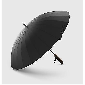 Rain Umbrella Men Quality 24k Strong Windproof Frame Wooden Long Handle Women's