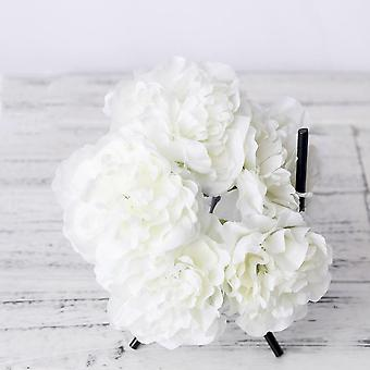 Artificial faux peonies for home decor and events set up