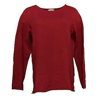 Belle By Kim Gravel Mujeres's Suéter Cashmere Blend Bateau Cuello Rojo A386458