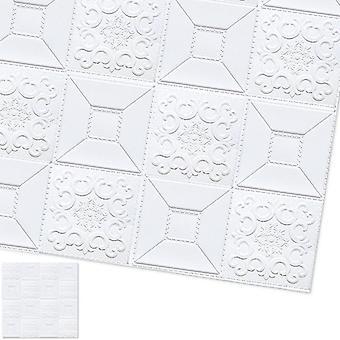 3d Wall Stickers- Waterproof Foam Brick, Wall Paper, Tv Backdrop Decor, Marble