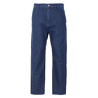 Edwin Universal Cropped Japanese Denim Pants - Stone Wash Blue