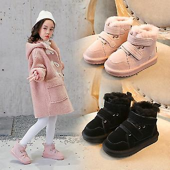 Winter Snow Boots Warm Skid-proof Cotton Genuine Leather Suede