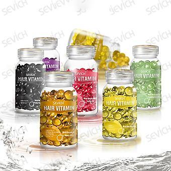 Smooth Silky Vitamin Capsule, Keratin Complex Oil, Care Repair Damaged Hair,
