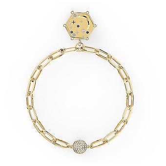 סברובסקי צמיד הירח אלמנטס - כחול - מצופה זהב