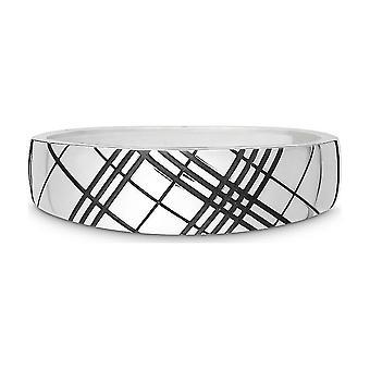 Quinn - Sølv armbånd med hengsel, delvis oksidert, Tri_Plets - 0291310