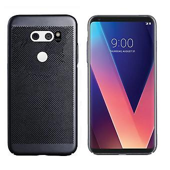 Colorfone LG V30 Shell Mit Loch (Schwarz)