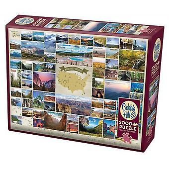 Cobble hill puzzle - national parks of the united states