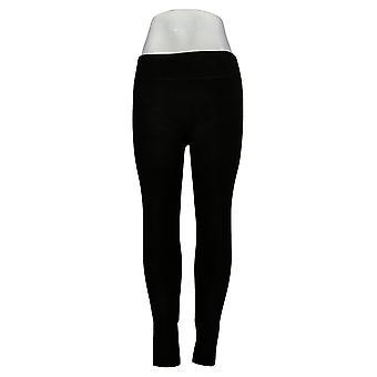 kos duds leggings xs kvinner's fleecewear stretch svart a342094