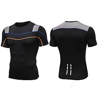 SPORX Men's Performance Top Shirt with Breathable Mash Black