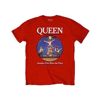 Queen Kids T Shirt Another Bites The Dust Band Logo Official Red Ages 5 -14 yrs