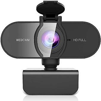 FengChun 1080P Webcam Full HD mit Dual Stereo-Mikrofon Belichtungs Korrektur, USB Webcam für PC Stecker