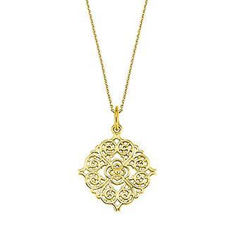 Liebe Halskette mit Damenanhänger, Sterling Silber 925, Ornament