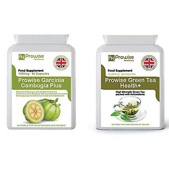 Green Tea + Garcinia Cambogia | Suitable For Vegetarians & Vegans | Made In UK by Prowise