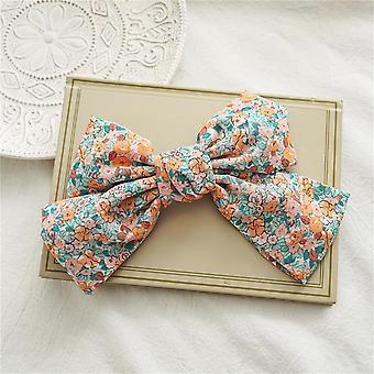 Hair ring floral bow barrettes chiffon