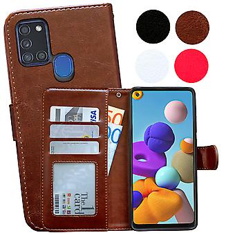 Samsung Galaxy A21s - Leather Case / Protection