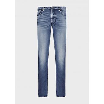Emporio Armani Slim Fit Mid Wash Denim Jeans