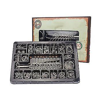 20Pcs iron link unlocking interlocking game chinese ring magic trick toy x653