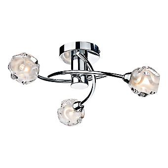 DAR SEATTLE Semi Flush Sufit Światło Światło polerowane Chrom, 3x G9