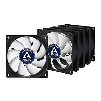 Arctic F8 8cm PWM PST Case Fans x5, Black & White, Fluid Dynamic, Value Pack (5 Fãs), Garantia de 6 Anos