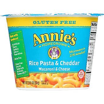 Annie's Homegrown Pasta Cup Rice & Chdr Gf, Case of 12 X 2.01 Oz