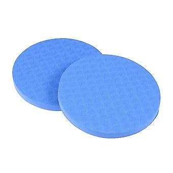 2pcs Yoga Workout Knie pad kussen dik rond Eco Tpe Yoga Pad Comfort Yoga Pilates Workout Support Pad voor handen polsen knieën ellebogen schouders (blauw