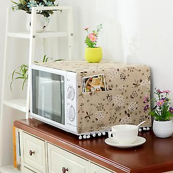 Gray microwave oven 30*90cm dust cover for microwave oven double pocket fabric homi2101