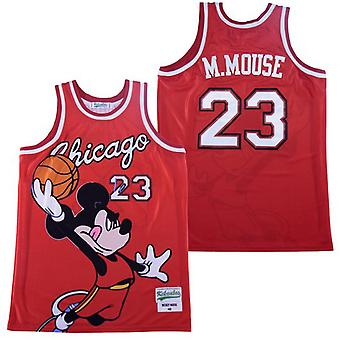 Men's Chicago #23 Mickey Basketball Jersey Sports T Shirt S-xxl,fashion 90s Hip Hop Clothing For Party, Stitched Letters And Numbers