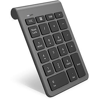 Bluetooth Ziffernblock,  Ultra Dünn Kabellos Externer Nummernblock 22 Tasten Wireless Numpad für