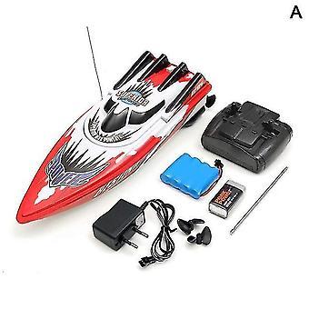 Barco 30km/h Baterias recarregáveis de alta velocidade Barco de Controle Remoto (Vermelho)