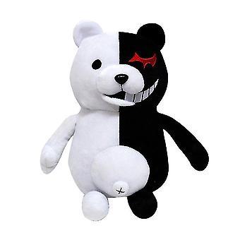 Super Danganronpa 2 Monokuma Musta & Valkoinen Karhu Pehmolelu Pehmeä Täytetty Eläinten Nuket