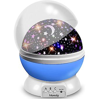 Moredig Baby Star Projector, 360Â Rotation Night Light Projector for Kids with 8 Lighting Modes -