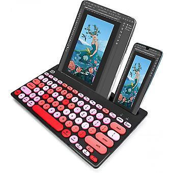 لوحة المفاتيح اللاسلكية بلوتوث و 2.4g D، والتحول إلى 3 أجهزة
