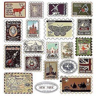 Retro verschiedene Länder Briefmarken Aufkleber für Ipad/Laptop/Kühlschrank
