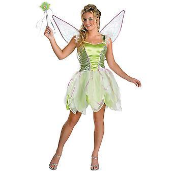 Tinkerbell Tinker Bell Disney Fairy Neverland tonåring flickor kvinnor kostym 7-9